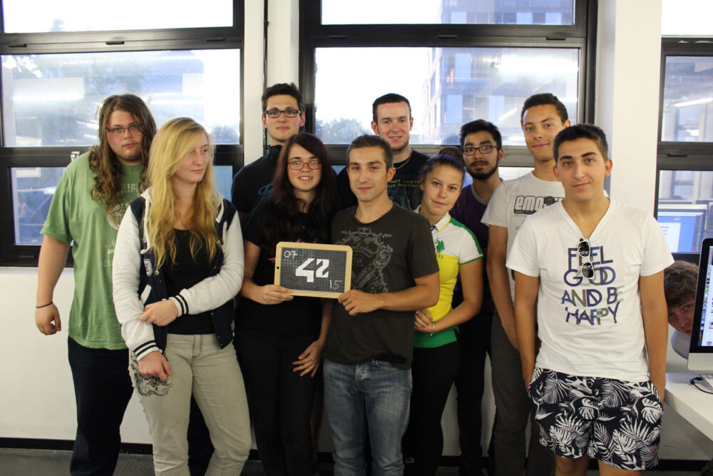 Group of students at 42 Paris with programming certificate.